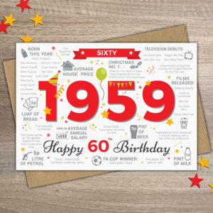 1959 Year of Birth Card