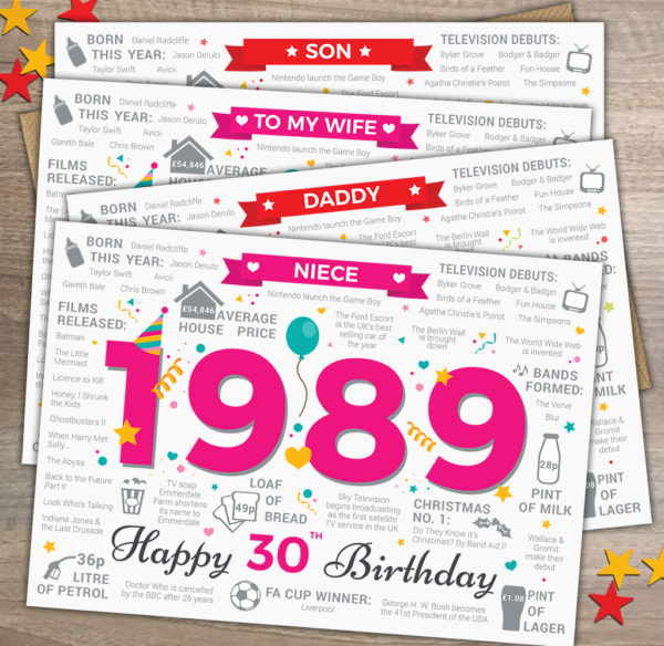 Son Wife Daddy Niece Variations of 1989 30th Fact Card