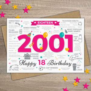 2001 18th Birthday milestone Female