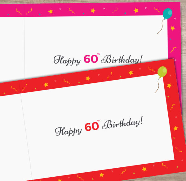 Inside Happy 60th Year of Birth Facts Birthday Card 1961