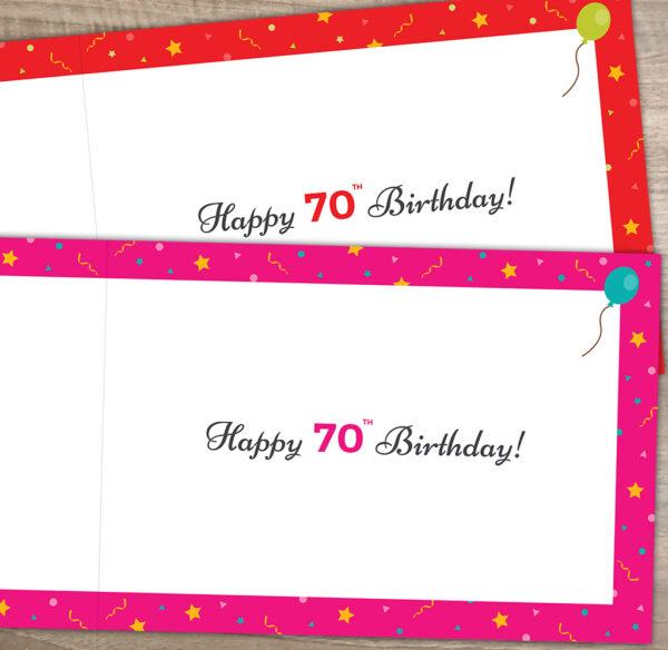 Inside 70th 1951 Birthday Card