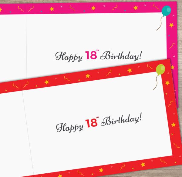 2003 Happy 18th Birthday Year You Were Born Memories Card Inside