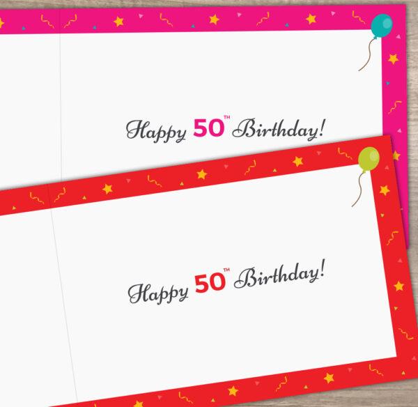 1971 Happy 50th Birthday Inside Card
