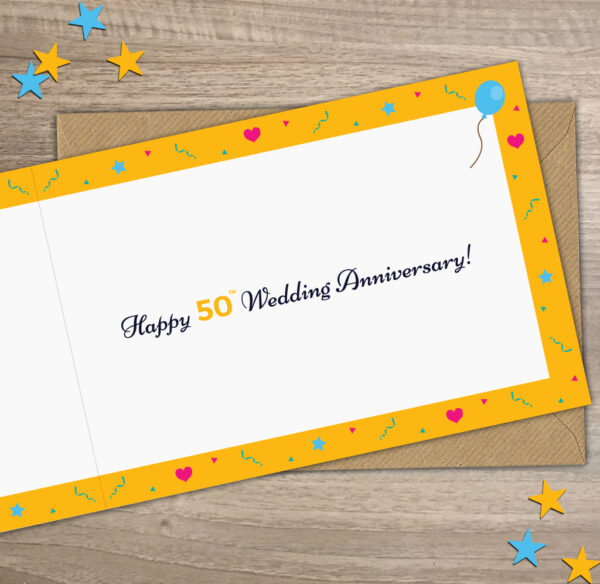 Happy 50th Wedding Anniversary Inside Year of Birth Facts Card 1971