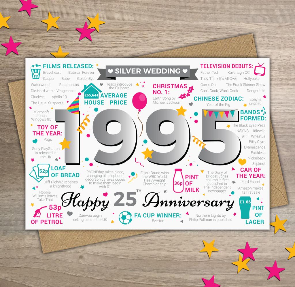 Silver Wedding Card – Year of Birth Cards